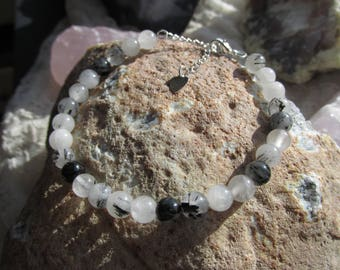 Tourmaline quartz bracelet 6mm beads