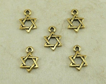 Star of David Charm - 22kt Gold Plated can be added to any Mee'La Bracelet Set