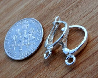 Top Quality, Sterling Silver, Lever Back, Findings