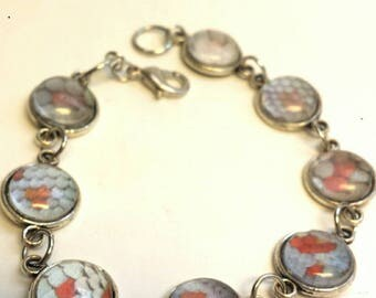 Tokay Gecko lizard Bracelet, reptile jewelry, reptile bracelet, gecko accessories, nerdy jewelry, gecko jewellery, lizard accessories, geeky