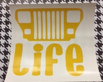 Inventory Sale!!!! - Jeep Life (YJ) Decal/YJ/Jeep Life/Jeep/Jeep Decal/Jeep Decals