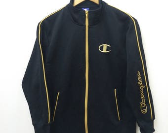 "Champion Track Top Jacket/ Golden Embroidery/Size S"" /Made Japan"