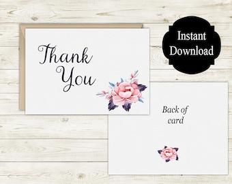 Printable Thank You Card, Greeting Card, Thank You Card, Printable Card, Alexa Collection