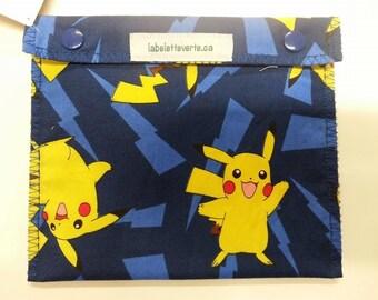 Sandwich bag reusable & washable Pikachu machine Video Games (size small) Sandwich Bag