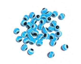 Resin - Turquoise evil eye bead