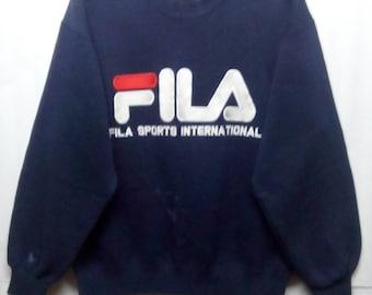 rare!!! Fila sweatshirt big spellout logo
