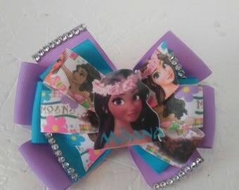 Moana hair bow . Birthday bow character bow