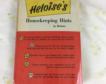 Heloise's Housekeeping Hints by Heloise / c. 1962 Prentice-Hall / vintage book / cleaning / sewing / laundry / pest control / home