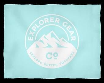Explorer Gear Co. Fleece Blanket (Ice Blue) (Small)
