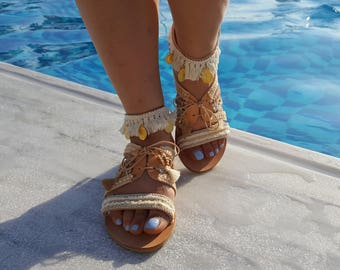 Handmade Sandals, Greek Sandals, Leather Sandals