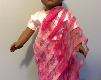Sari outfit made for an 18 inch doll such as American girl and the like size