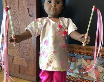 Chinese New Year celebration outfit made for an 18 inch doll such as American girl and the like size