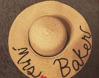 Personalized beach hat