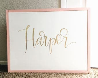 The Harper Nursery Wooden Sign