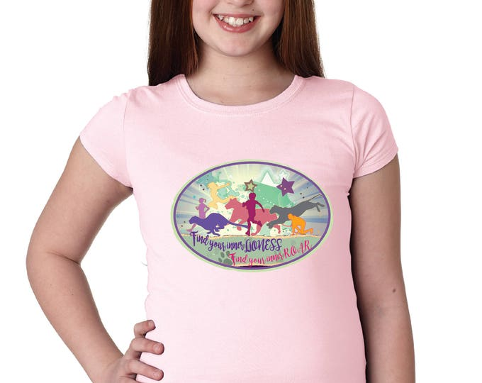 Girl Power Girl's Scoop Neck Tshirt - Custom Design