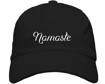 Namaste Embroidered Baseball Dad Hat Strapback Humor Dat Hats Women's Hats Men's Hats