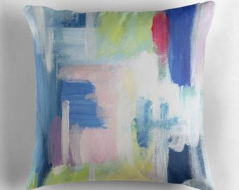 Decorative Pillows - Blue Abstract Pillow Covers - Blue Throw Pillows - FREE Shipping