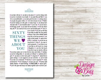 sixty things we love about you - Poster