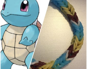 Squirtle Bracelet - Pokemon Bracelet - Rainbow Loom - Friendship Bracelet - Pokemom Accessories