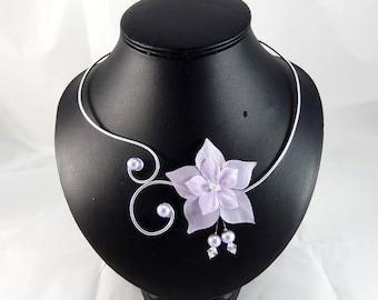 Eline - Purple flower necklace / purple - customizable