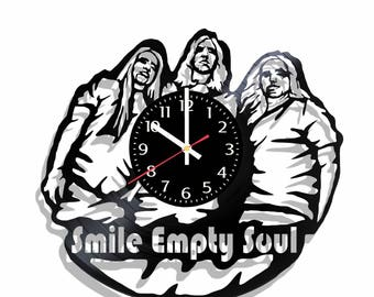 Smile Empty Soul rock band wall clock, Smile Empty Soul wall poster