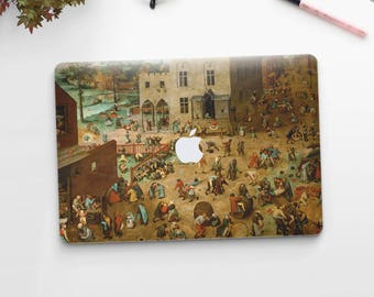 "Pieter Bruegel, ""Children's Games"". Macbook Pro 15 skin, Macbook Pro 13 skin, Macbook 12 skin. Macbook Pro skin. Macbook Air skin."