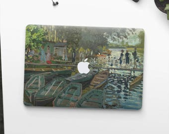 "Claude Monet, ""Bathers at La Grenouillère"". Macbook Pro 15 decal, Macbook Pro 13 decal, Macbook 12 decal. Macbook Air decal."