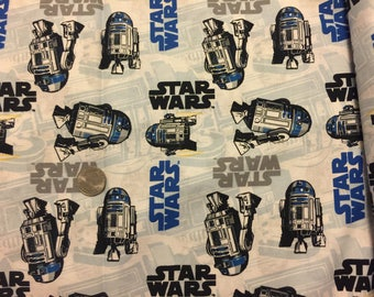 Star wars fabric R2d2 cotton sewing material by the yard