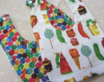 Hungry Caterpillar Bib Set/Hungry Caterpillar Bibs/New Born Gift/Baby Bib/Baby Shower Gift/Burping Bib
