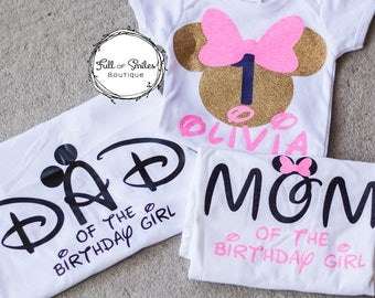 Family Disney Shirts with Glitter... Birthday or Visit