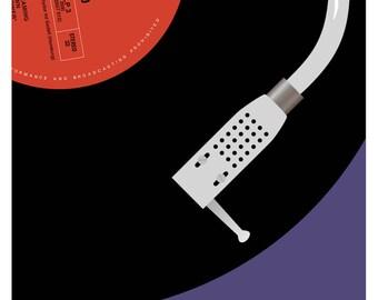 Jimi Hendrix Electric Ladyland Vinyl fine art giclée print