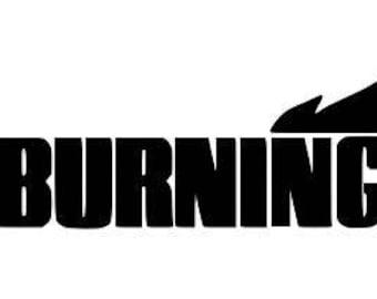 The Burning Horror Vinyl Car Decal Bumper Window Sticker Any Color Multiple Sizes Custom