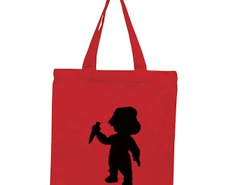 Chucky Childs Play Horror Canvas Tote Bag Market Pouch Grocery Reusable Halloween Merch Massacre Black Friday Christmas