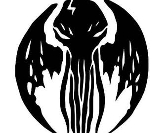 Cthulhu HP Lovecraft Elder Sign Halloween Horror Vinyl Car Decal Bumper Window Sticker Any Color Multiple Sizes Merch Massacre