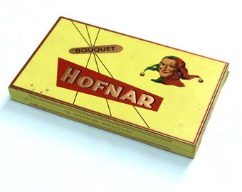 Vintage Dutch Cart Board Cigar Box, Hofnar Cigars
