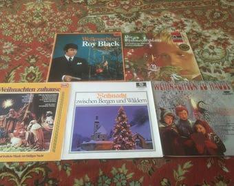 Vintage vinyl LP German Christmas songs