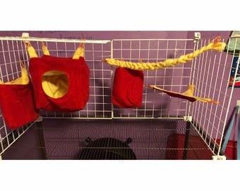 Custom sugar glider 5 piece cage set