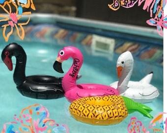 Monogrammed Drink Float, Personalized Drink Float, Custom Drink Float, Bachelorette Party, Drink Float, Flamingo Float,Swan Float, Pineapple
