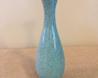 Turquoise Bud Vase, Red Wing, Speckled, 1509, Flower Vase, Blue