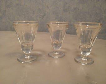 3 shot glasses