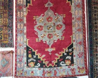 "Turkish vintage oushak rug, Area rug ,home living, pastel colors ,home decor ,etsy carpet4'6""×6'8""ft,Turkish carpet,Fashion rugs,"