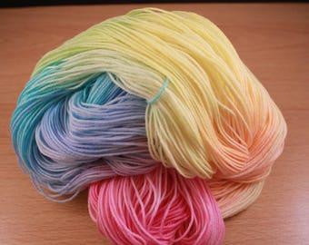 Pastel Rainbow Hand Dyed Yarn