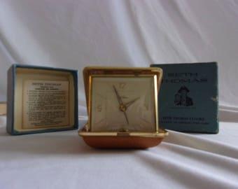 Vintage Antique Seth Thomas Classmate 15 No. 972 Travel Alarm with Original Box