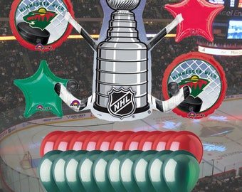Minnesota Wild 25 piece Balloon Kit