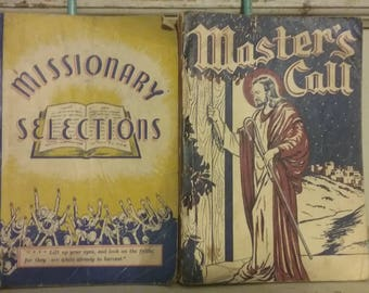 Vintage Hymnals, lot of two, Gospel songs, Music books