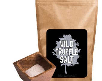 White Truffle Salt, Mediterranean Sea Salt with Italian White Alba Truffles (3 ounce)