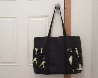 Large Tote Bag- Yoga Frogs