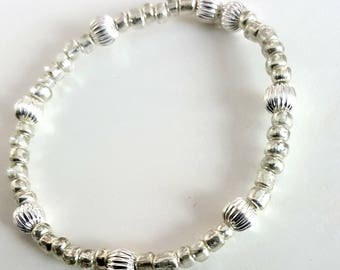 BACK IN STOCK!!!Silver seed bead bracelet