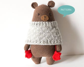 Crochet pattern Bear Amigurumi, Digital PDF crochet pattern, Amigurumi pattern Bear, crochet tutorial Bear, Stuffed Animal crochet pattern
