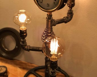 Steampunk Industrial Lamp-  Tesla Tower